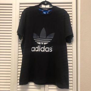 Adidas Black Logo Tee Sz XL